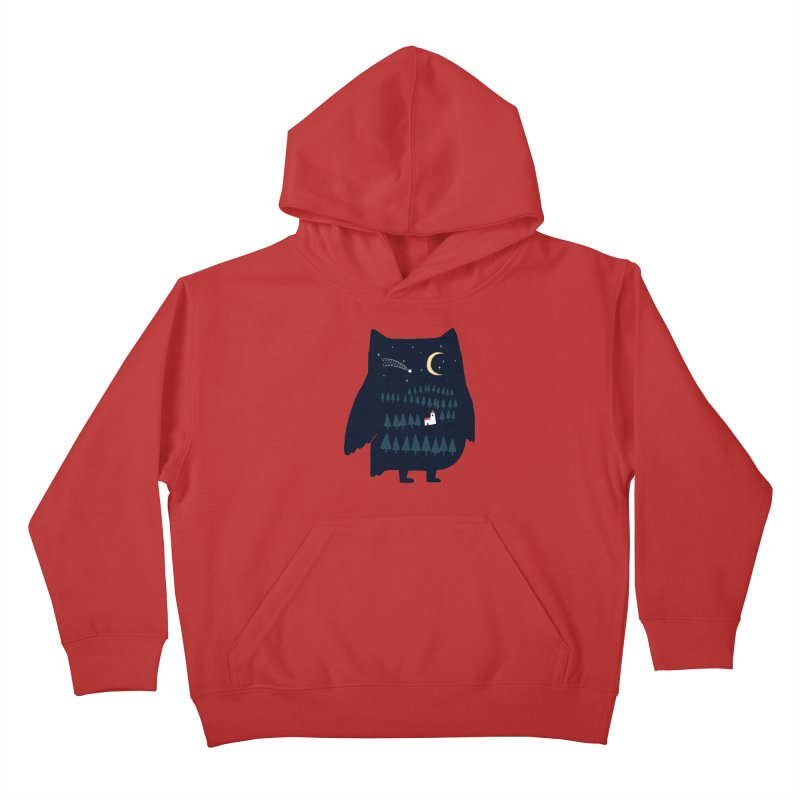 Night Owl Kids Pullover Hoody by ilovedoodle's Artist Shop