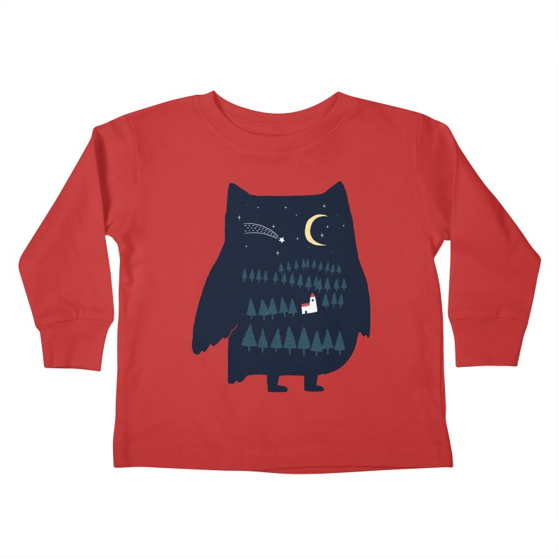 Night Owl Kids Toddler Longsleeve T-Shirt by ilovedoodle's Artist Shop