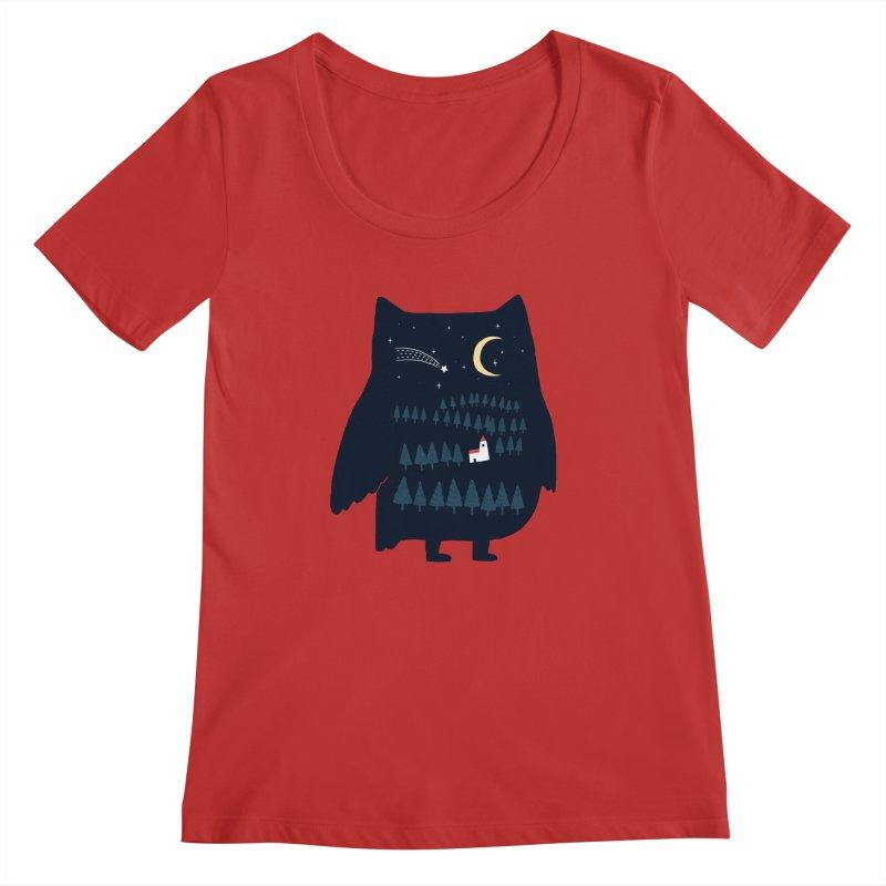 Night Owl Women's Scoopneck by ilovedoodle's Artist Shop