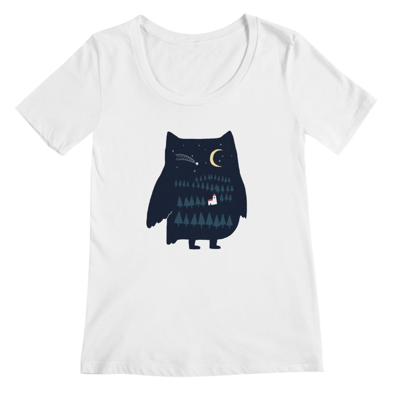 Night Owl Women's Scoopneck by ilovedoodle's Artist Shop