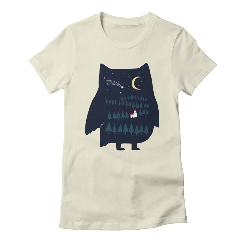 Night Owl Women's Fitted T-Shirt by ilovedoodle's Artist Shop