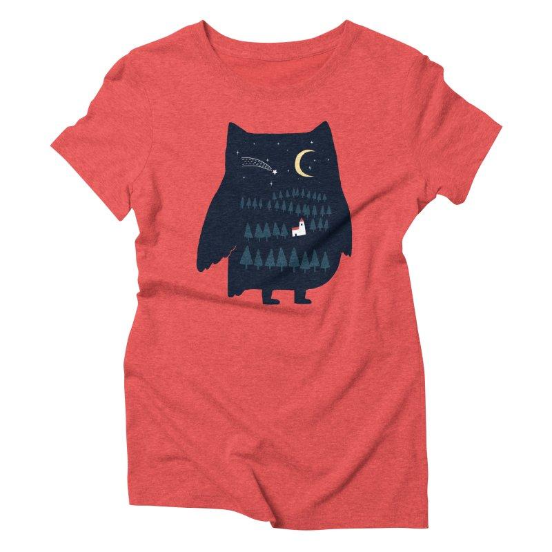 Night Owl Women's Triblend T-shirt by ilovedoodle's Artist Shop