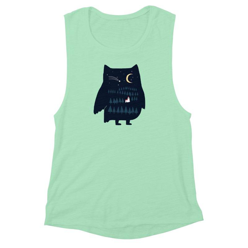 Night Owl Women's Muscle Tank by ilovedoodle's Artist Shop