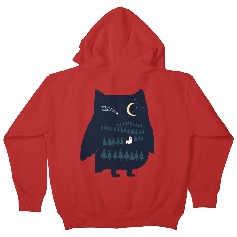 Night Owl Kids Zip-Up Hoody by ilovedoodle's Artist Shop