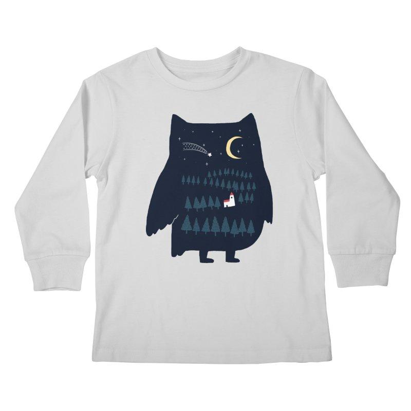 Night Owl Kids Longsleeve T-Shirt by ilovedoodle's Artist Shop