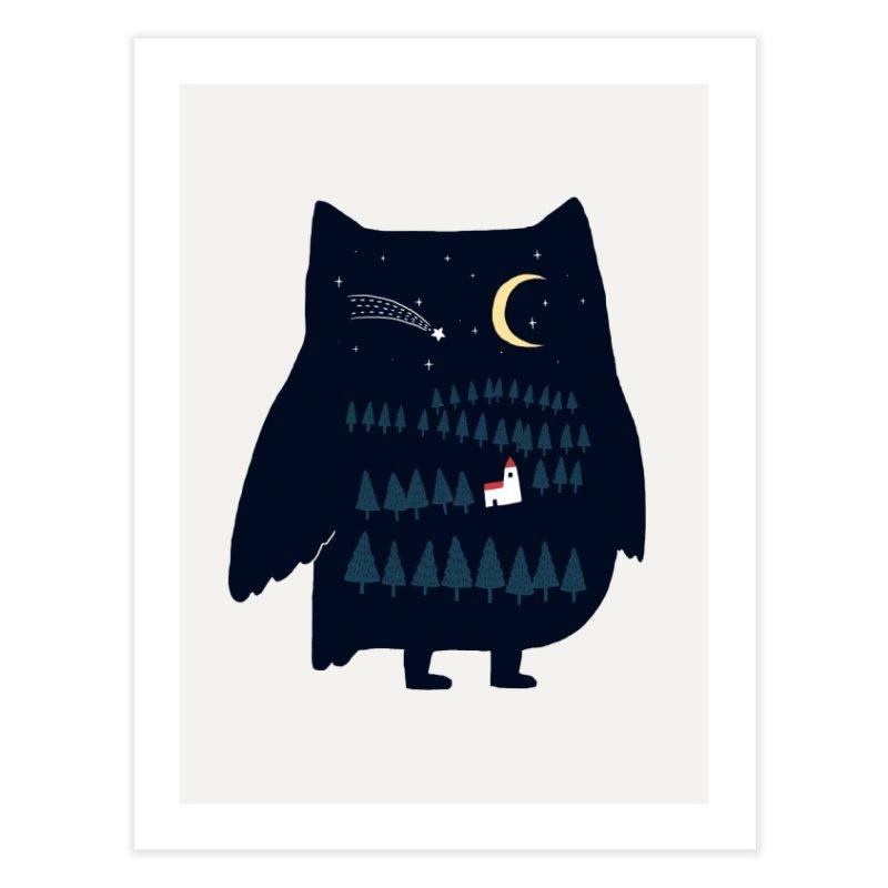 Night Owl Home Fine Art Print by ilovedoodle's Artist Shop