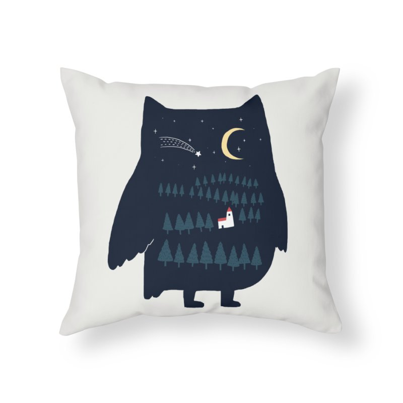 Night Owl Home Throw Pillow by ilovedoodle's Artist Shop