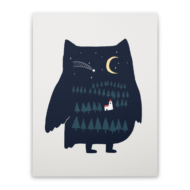 Night Owl Home Stretched Canvas by ilovedoodle's Artist Shop