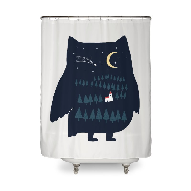 Night Owl Home Shower Curtain by ilovedoodle's Artist Shop
