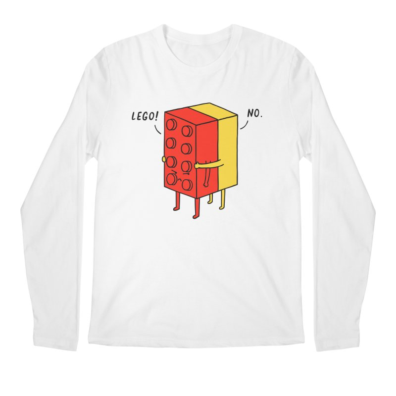Lego! No Men's Longsleeve T-Shirt by ilovedoodle's Artist Shop