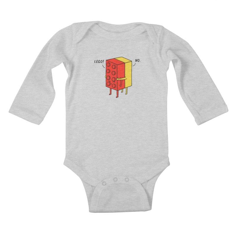 Lego! No Kids Baby Longsleeve Bodysuit by ilovedoodle's Artist Shop