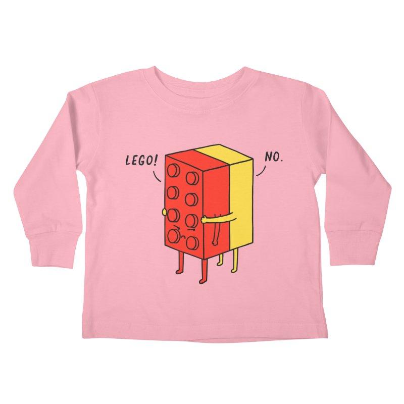 Lego! No Kids Toddler Longsleeve T-Shirt by ilovedoodle's Artist Shop