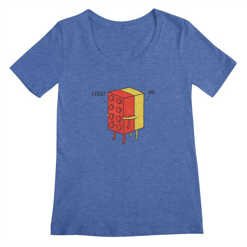 Lego! No Women's Scoopneck by ilovedoodle's Artist Shop