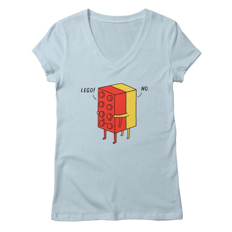 Lego! No Women's V-Neck by ilovedoodle's Artist Shop