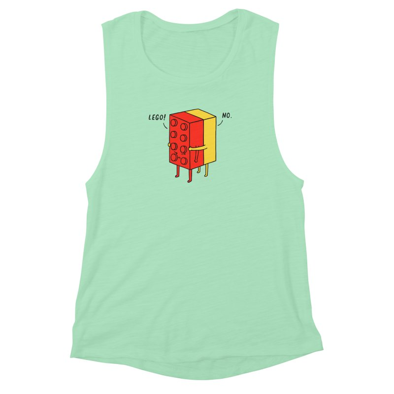 Lego! No Women's Muscle Tank by ilovedoodle's Artist Shop