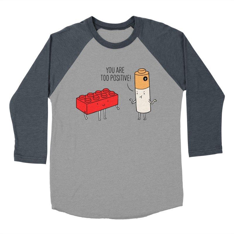 Positive Lego Men's Baseball Triblend T-Shirt by ilovedoodle's Artist Shop