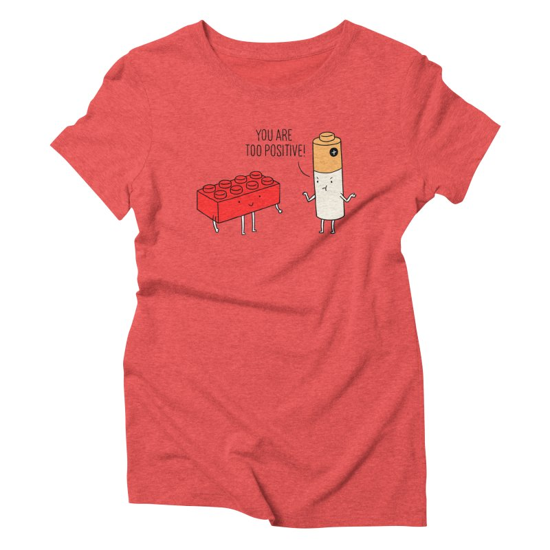 Positive Lego Women's Triblend T-shirt by ilovedoodle's Artist Shop