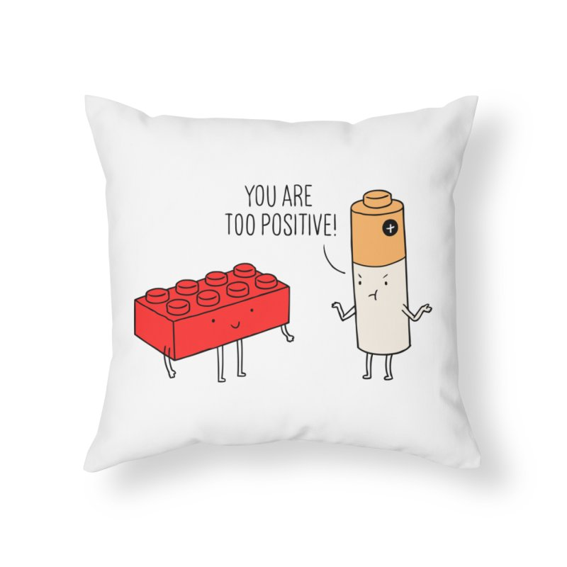 Positive Lego Home Throw Pillow by ilovedoodle's Artist Shop
