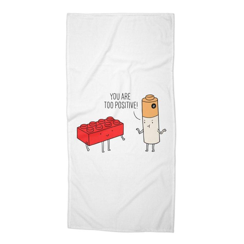 Positive Lego Accessories Beach Towel by ilovedoodle's Artist Shop