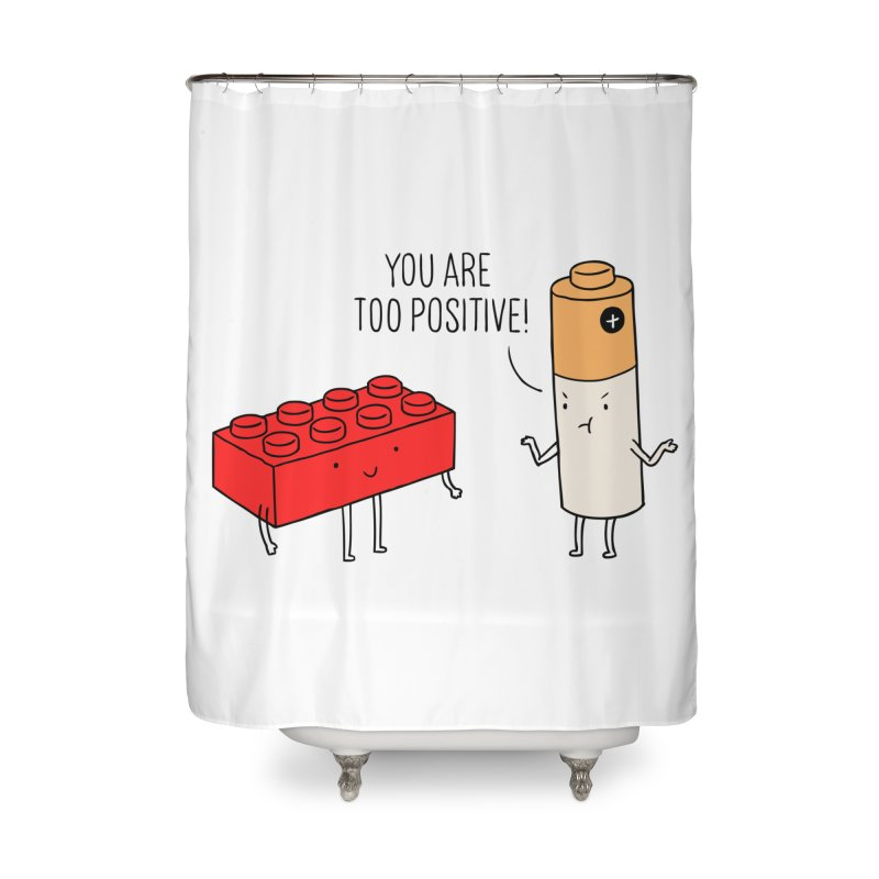Positive Lego Home Shower Curtain by ilovedoodle's Artist Shop