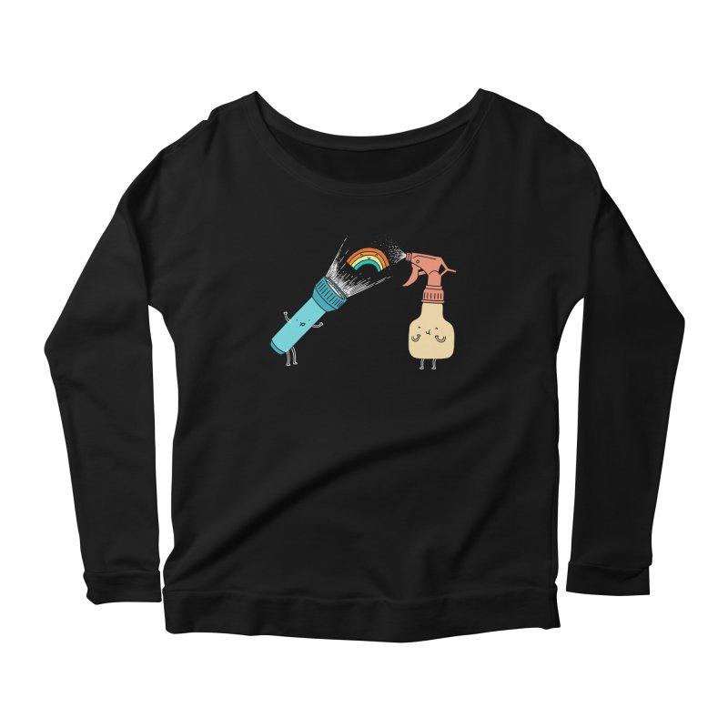 Together we make rainbow Women's Longsleeve Scoopneck  by ilovedoodle's Artist Shop