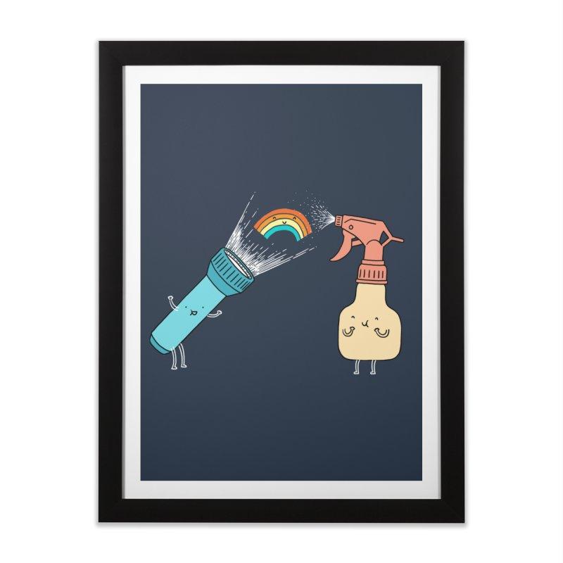 Together we make rainbow Home Framed Fine Art Print by ilovedoodle's Artist Shop