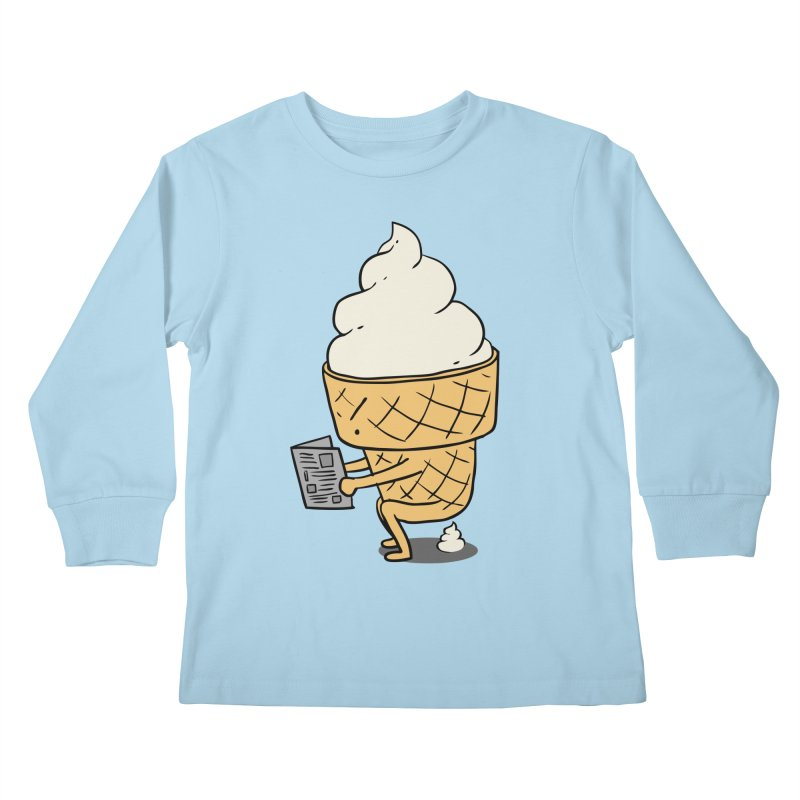 Everyone Poops Kids Longsleeve T-Shirt by ilovedoodle's Artist Shop
