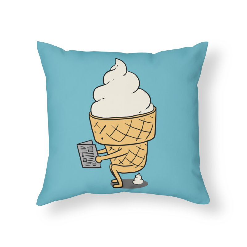 Everyone Poops Home Throw Pillow by ilovedoodle's Artist Shop
