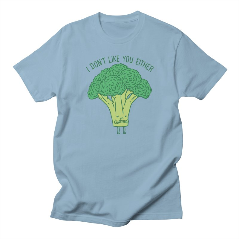 Broccoli don't like you either Men's T-shirt by ilovedoodle's Artist Shop