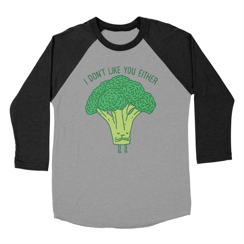 Broccoli don't like you either Men's Baseball Triblend T-Shirt by ilovedoodle's Artist Shop