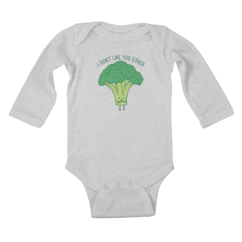 Broccoli don't like you either Kids Baby Longsleeve Bodysuit by ilovedoodle's Artist Shop