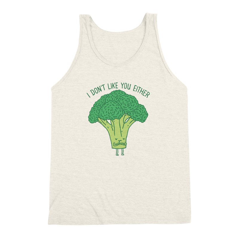 Broccoli don't like you either Men's Triblend Tank by ilovedoodle's Artist Shop