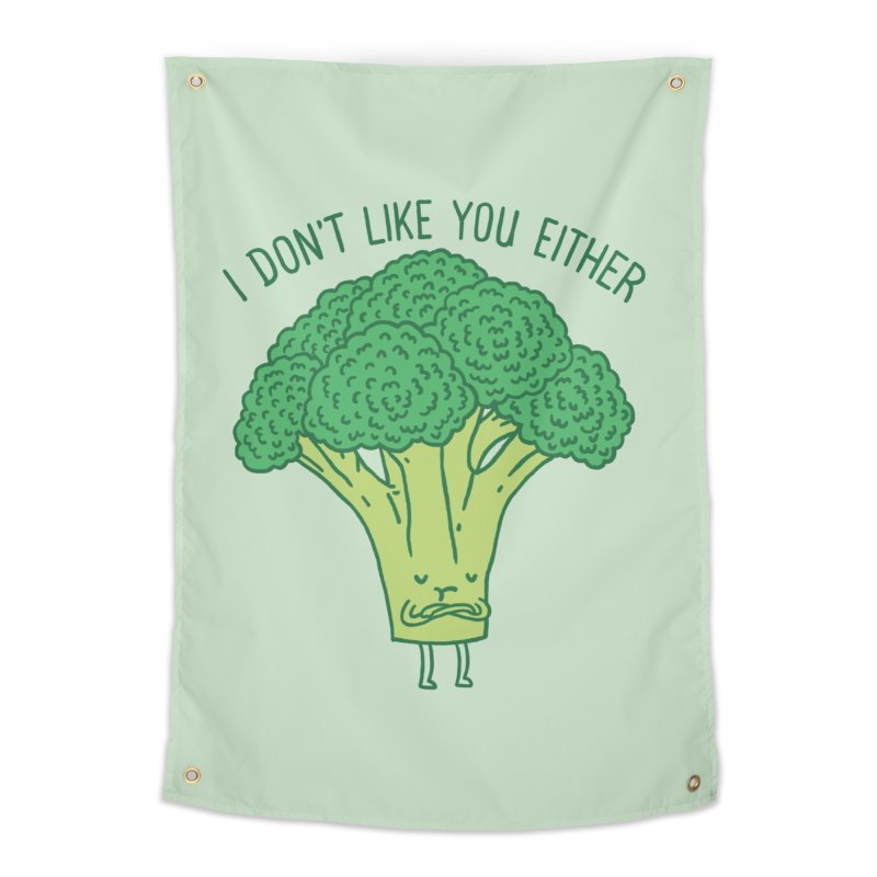 Broccoli don't like you either Home Tapestry by ilovedoodle's Artist Shop