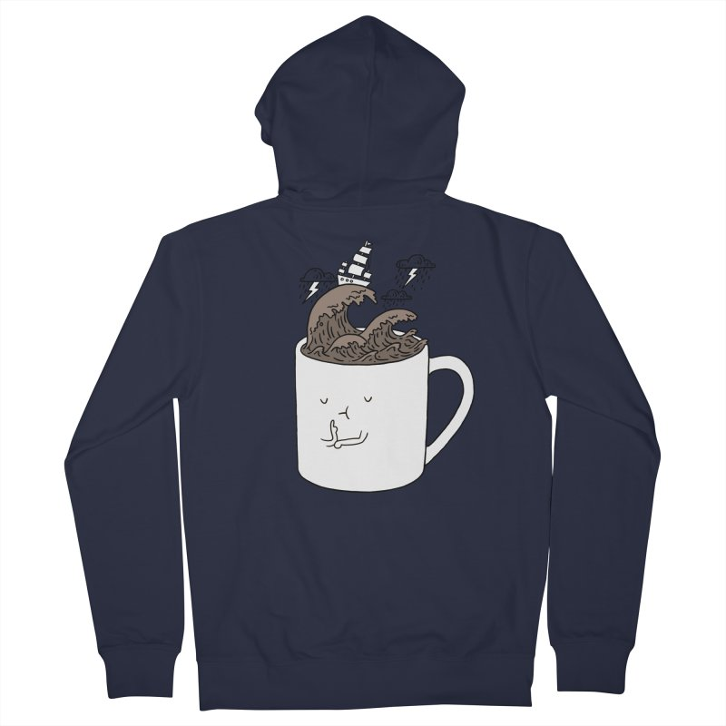 Brainstorming Coffee Mug Women's Zip-Up Hoody by ilovedoodle's Artist Shop