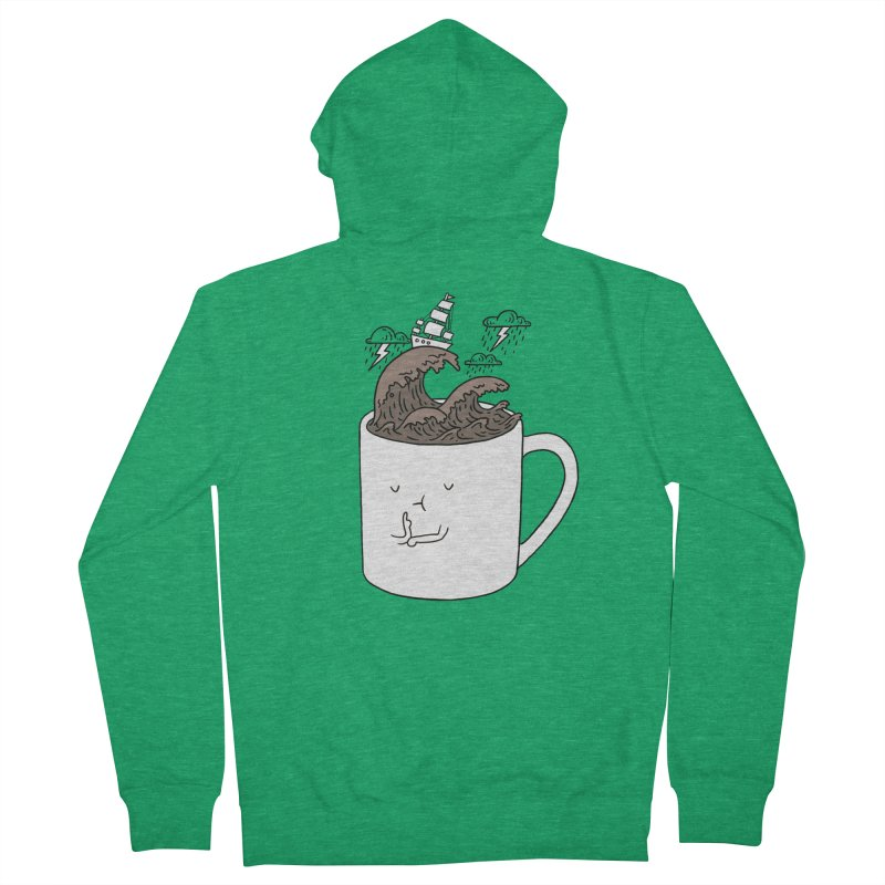 Brainstorming Coffee Mug Men's Zip-Up Hoody by ilovedoodle's Artist Shop