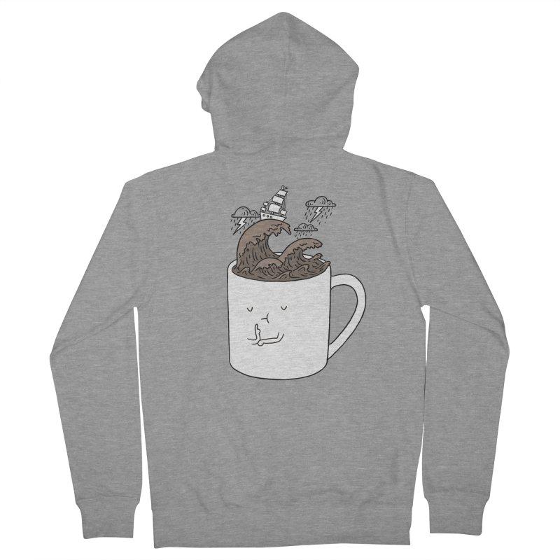 Brainstorming Coffee Mug Men's Zip-Up Hoody by ilovedoodle's Artist Shop