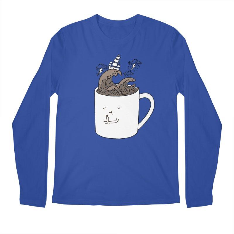 Brainstorming Coffee Mug Men's Longsleeve T-Shirt by ilovedoodle's Artist Shop
