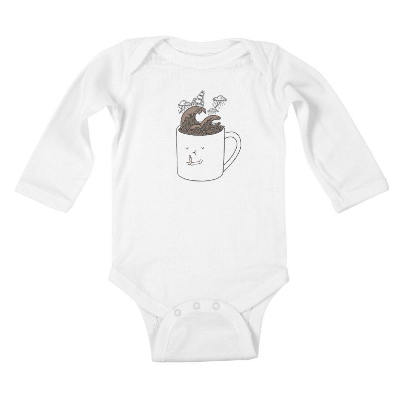 Brainstorming Coffee Mug Kids Baby Longsleeve Bodysuit by ilovedoodle's Artist Shop