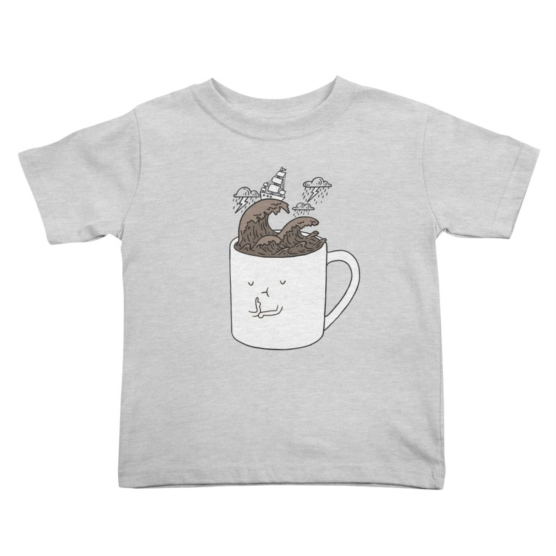 Brainstorming Coffee Mug Kids Toddler T-Shirt by ilovedoodle's Artist Shop
