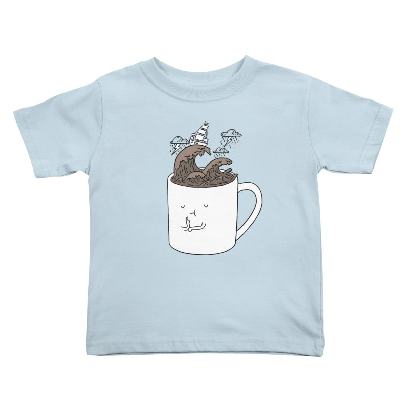 Brainstorming Coffee Mug Kids Toddler T-Shirt by ilovedoodle's Artist Shop