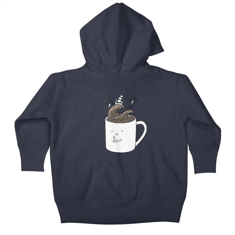 Brainstorming Coffee Mug Kids Baby Zip-Up Hoody by ilovedoodle's Artist Shop