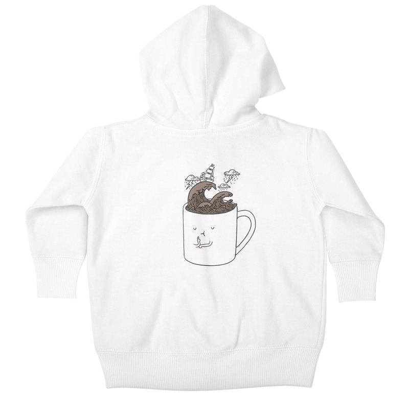 Brainstorming Coffee Mug Kids Baby Zip-Up Hoody by ilovedoodle's Artist Shop