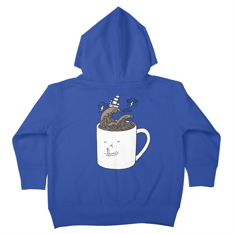 Brainstorming Coffee Mug Kids Toddler Zip-Up Hoody by ilovedoodle's Artist Shop