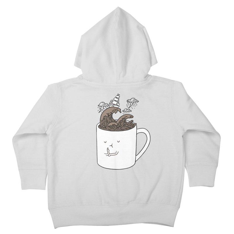 Brainstorming Coffee Mug Kids Toddler Zip-Up Hoody by ilovedoodle's Artist Shop