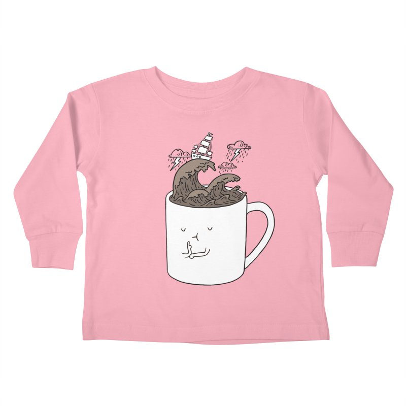 Brainstorming Coffee Mug Kids Toddler Longsleeve T-Shirt by ilovedoodle's Artist Shop