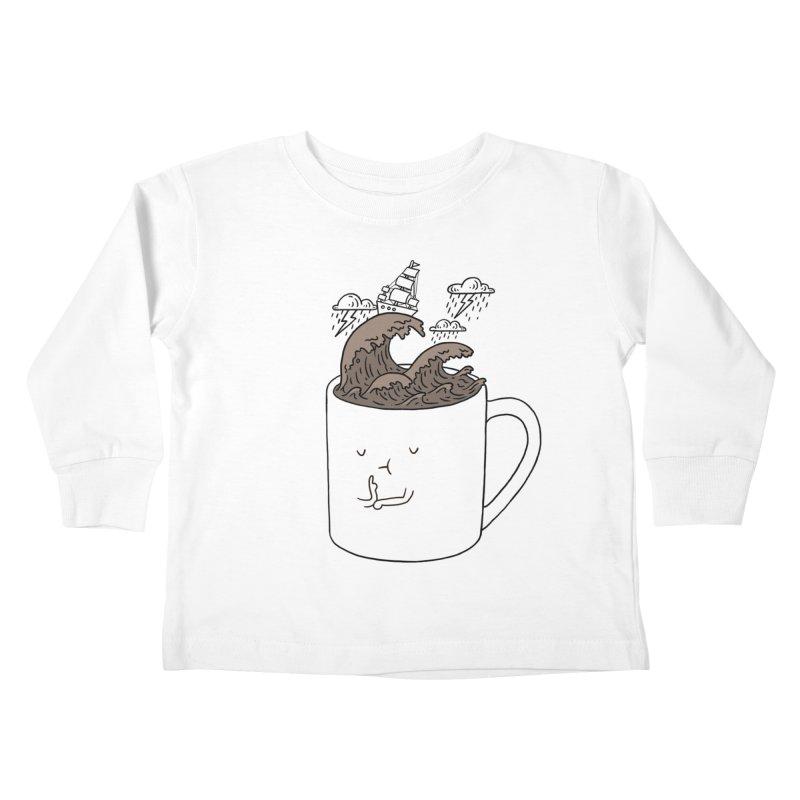 Brainstorming Coffee Mug Kids Toddler Longsleeve T-Shirt by ilovedoodle's Artist Shop