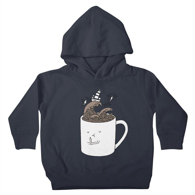 Brainstorming Coffee Mug Kids Toddler Pullover Hoody by ilovedoodle's Artist Shop