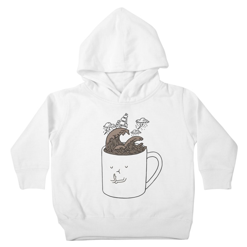 Brainstorming Coffee Mug Kids Toddler Pullover Hoody by ilovedoodle's Artist Shop