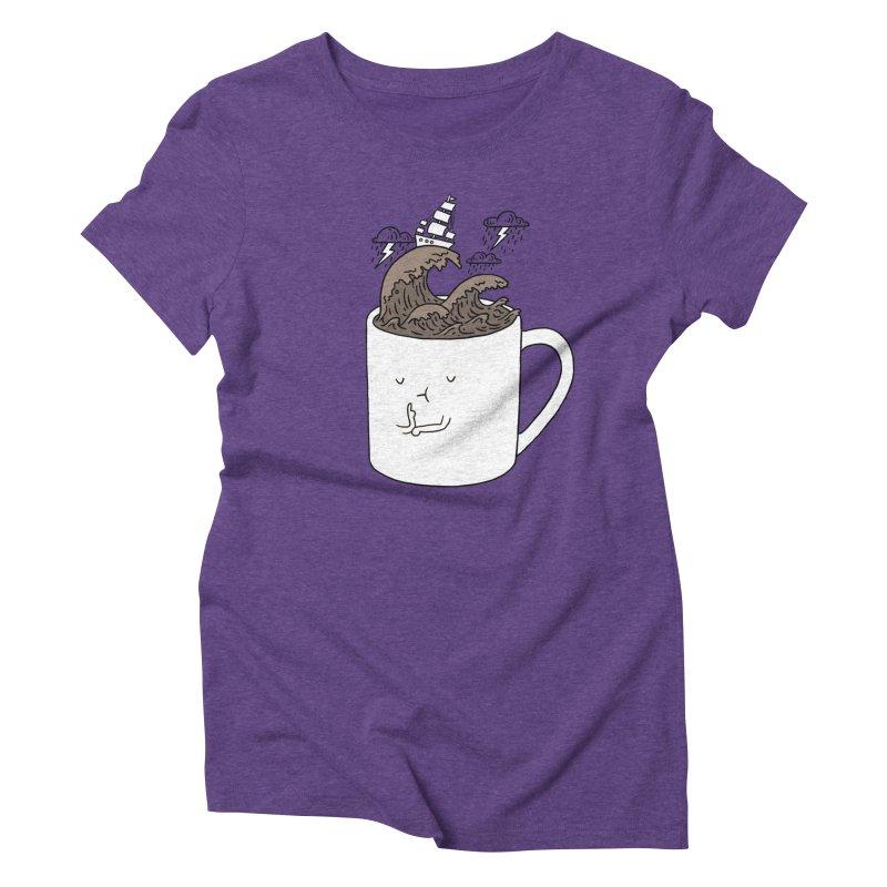 Brainstorming Coffee Mug Women's Triblend T-shirt by ilovedoodle's Artist Shop