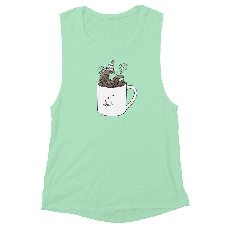 Brainstorming Coffee Mug Women's Muscle Tank by ilovedoodle's Artist Shop